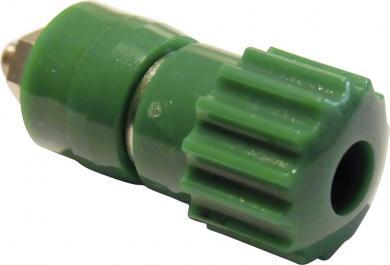 Bornă cu şurub SCI 16 A, complet izolată, cu cap canelat, nedetaşabil, verde