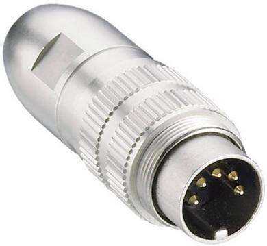 Conector circular DIN, tată, 5 pini, argintiu, Lumberg 0331 05-1