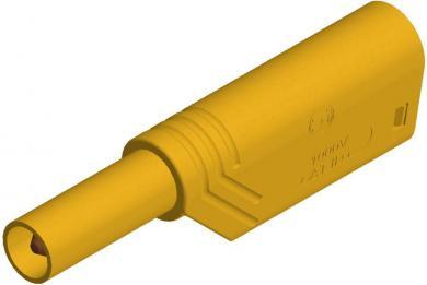Mufă banană izolată SKS Hirschmann, LAS S WS, 4 mm, galben