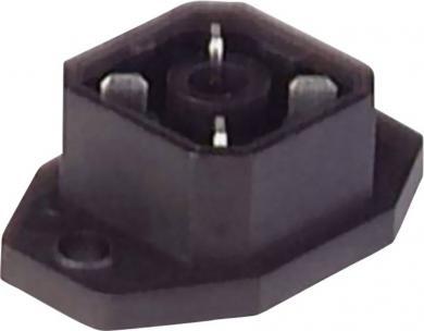 Conector tată G 4 A 5 M cu flanşă şi contact de lipire, montare aplicată, 4 pini, negru, Hirschmann