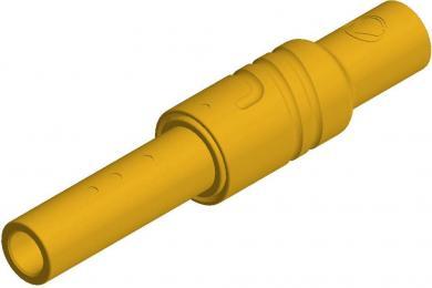 Conector izolat SKS Hirschmann KUN S, 4 mm, galben