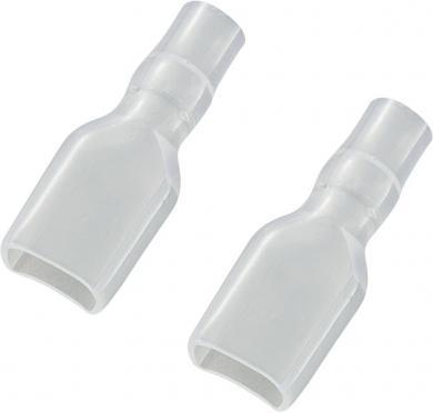 Manşon de izolare din PVC moale pentru papuci polaţi neizolaţi 6,3 mm, transparent