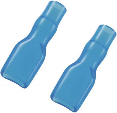 Manşon de izolare din PVC moale pentru papuci polaţi neizolaţi 4,8 mm, albastru