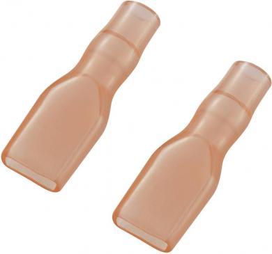 Manşon de izolare din PVC moale pentru papuci polaţi neizolaţi 4,8 mm, roşu
