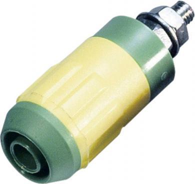 Mufă Ø 4 mm, verde-galben, MultiContact XUB-G