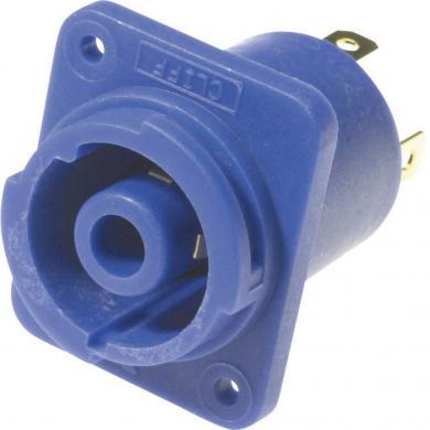 Conector CLIFFCON® cu protecţie la contact, 4 pini, soclu mamă, albastru, 120 V/AC