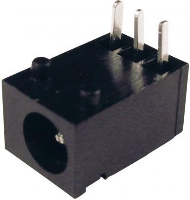 Soclu de alimentare Cliff FC681455, montare pe circuite imprimate, Ø pin 1,3 mm, 1 A