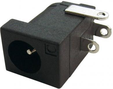 Soclu de alimentare Cliff FCR681465, montare prin lipire, Ø pin 2,1 şi 2,5 mm, 5 A