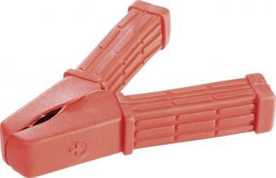 Clemă crocodil izolată, diametru cablu: cu şurub 6 mm până la 20 mm², 150 A, roşu