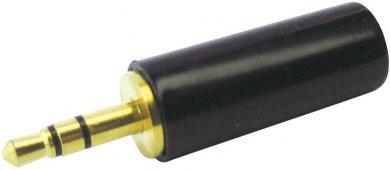 Jack FT6301, 3,5 mm, mufă tată, drept, ecranat, 3 / stereo, aurit