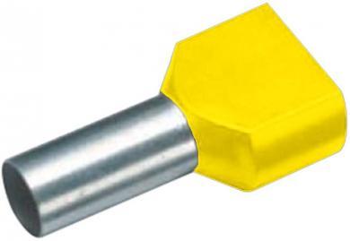 Inel de etanşare dublu izolat conform DIN 46228, Cimco, seria de culoare 2, 2 x 1 mm² x 8 mm, galben, 100 bucăţi