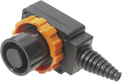 Conector CLIFFCON® cu protecţie la contact, 8 pini, conector cablu 90˚, conexiune prin şurub