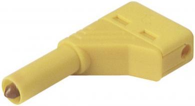 Mufă banană SKS Hirschmann LAS S, 4 mm, mufă tată, în unghi, galben