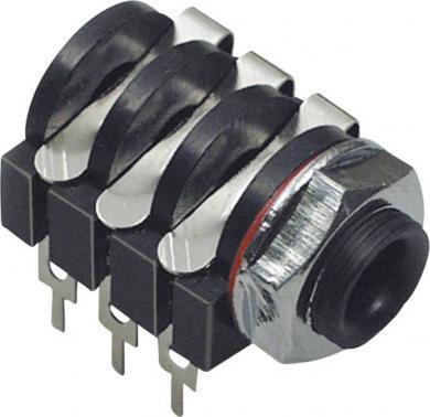 Jack 6,35 mm, soclu mamă, stereo, pentru montare, 1109018 BKL Electronic