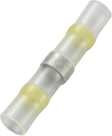 Set conectori cu tub termocontractabil complet izolat 2:1, Ø interior 6 mm, lungime 40 mm, galben, 15 buc., Conrad JFST-4-Y/15S