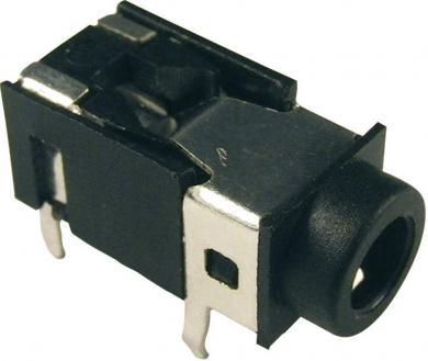 Soclu jack pentru montare FC86125, Ø interior 3,5 mm, 4 pini, carcasă PVC, negru