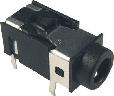 Soclu jack pentru montare FC86129, Ø interior 3,5 mm, 4 pini, carcasă PVC, negru