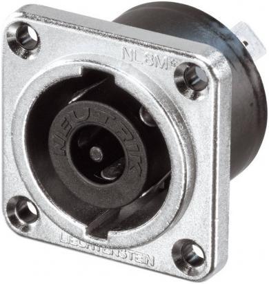Conector Speakon serial NL, drept, 8 pini, conexiune prin conector plat 6,3 mm