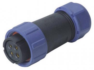 Conector mamă, 12 pini, 5 A, IP68, Weipu SP2110/S12 II