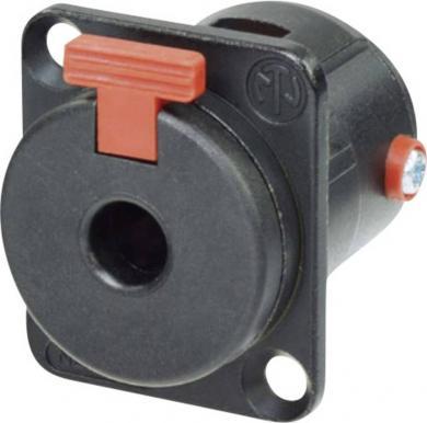 Jack 6,35 mm, soclu mamă, pentru montare, NJ 3 FP 6 C BAG Neutrik