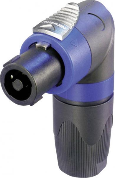 Conector Speakon NL 4 FRX, tată, în unghi, Ø conexiune cablu 6 - 14 mm, 4 pini