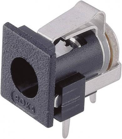 Soclu mamă alimentare 34 V/DC 3 A, 2.1 mm, montare PCB, contact de comutare