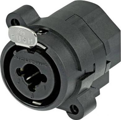 Mufă mamă XLR/mufă jack Combo, tip NCJ 6 FIS, conexiuni prin lipire, fără contact switching