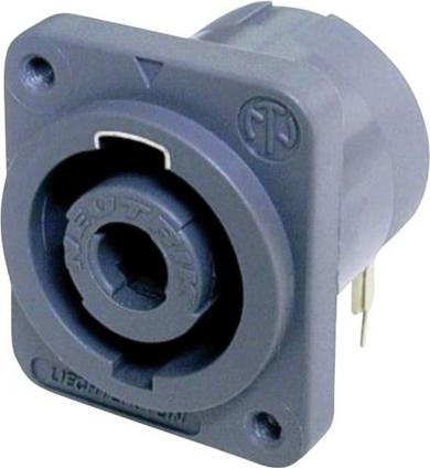 Conector Speakon serial NL, în unghi, seria D pentru PCB, 4 pini, conexiune prin lipire