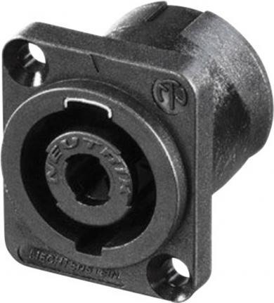 Conector Speakon serial NL, drept, seria D pentru PCB, 4 pini, conexiune prin lipire