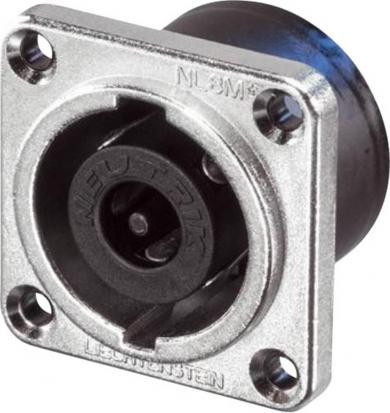 Conector Speakon serial NL, drept, 8 pini, conexiune prin conector plat 4,8 mm