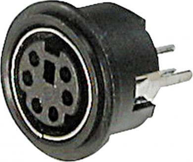 Conector soclu mini-DIN, pentru montare, 6 pini, A-DIO-TOP/06 Potentiometer Service GmbH