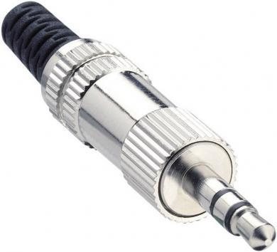 Jack 3,5 mm, mufă tată, stereo, protecţie la îndoire, izolaţie ABS/PVC, KLS 44 Lumberg
