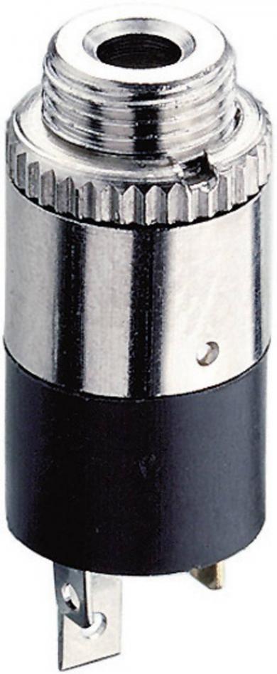 Jack 2,5 mm, soclu mamă, stereo, vertical, pentru montare, KLB 13 Lumberg