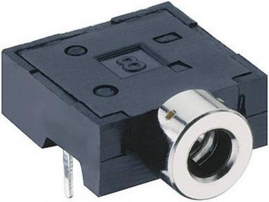 Jack 2,5 mm, soclu mamă, stereo, în unghi, pentru montare, 1501 06 Lumberg