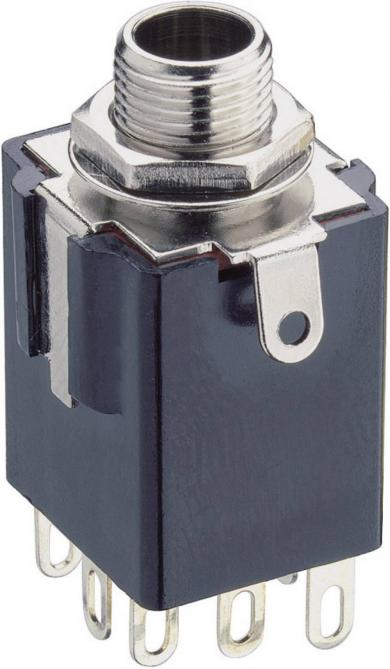 Jack 6,35 mm, soclu mamă, stereo, montare din spate, KLBPSS 3 Lumberg