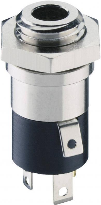 Jack 3,5 mm, soclu mamă, stereo, vertical, pentru montare, 1502 02 Lumberg