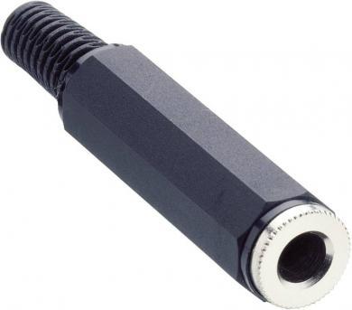 Jack 6,35 mm, mufă mamă, stereo, protecţie la îndoire, KLK 3 Lumberg