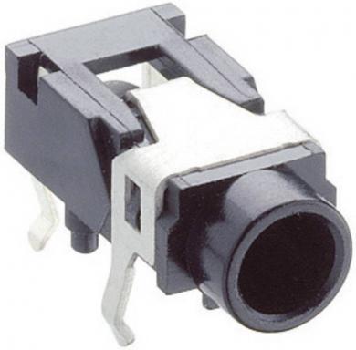 Jack 3,5 mm, soclu mamă, stereo, în unghi, pentru montare, 1503 07 Lumberg