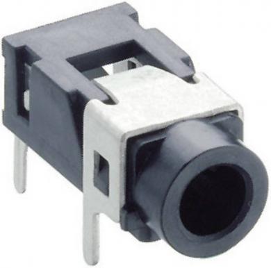 Jack 3,5 mm, soclu mamă, stereo, în unghi, pentru montare, 1503 08 Lumberg