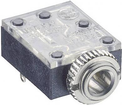 Jack 3,5 mm, soclu mamă, stereo, montare din spate, 1503 09 Lumberg