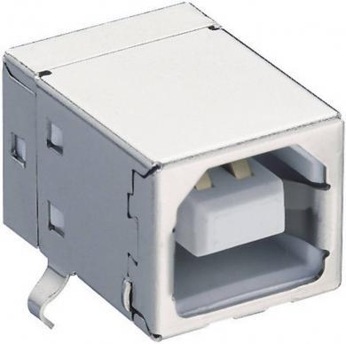 Conector USB B 2.0, soclu, în unghi, 2411 02 Lumberg