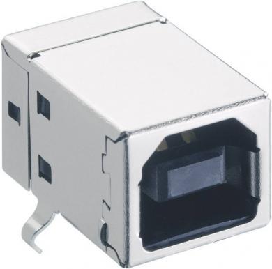 Conector USB B 2.0, soclu, în unghi, 2411 03 Lumberg