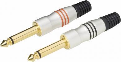 Set conectori jack 6,35 mm, drept, mufă tată, mono, protecţie la îndoire