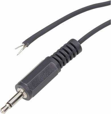 Cablu audio/NF cu mufă tată jack 3,5 mm, stereo, drept, 1,m, aurit, 1101052 BKL Electronic