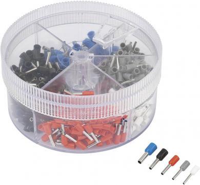 Set manşoane cablu 0,5 mm² - 2,5 mm², alb, gri, roşu, negru, albastru, 400 buc., Conrad