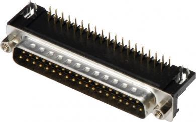 Conector D-SUB tată, 25 pini, în unghi 90°, cu terminale lipire, A-DS 25 A/KG-T2 Assmann