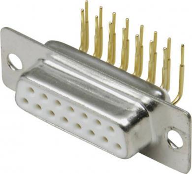 Conector D-SUB mamă, 25 pini, în unghi 90°, cu terminale lipire, 10120266 BKL Electronic