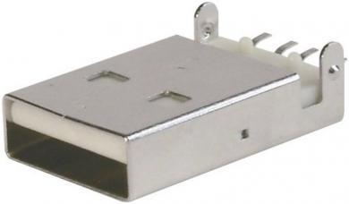 Mufă USB A 2.0 ultra plat, A-USB A-LP-SMT-C Assmann
