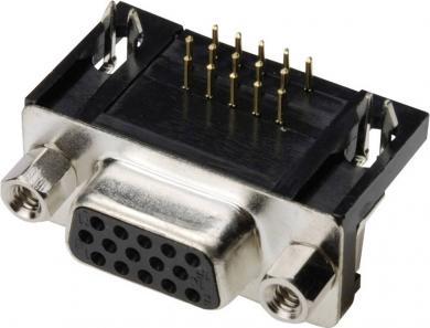 Conector D-SUB mamă, 26 pini, 3 rânduri, în unghi 90°, terminale lipire, A-HDF 26 A-KG/T Assmann