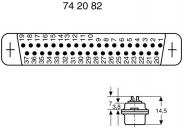Conector D-SUB mamă, 15 pini,...